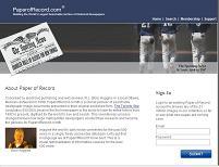 La página de la desaparecida PaperOfRecord (pero no, su database no está archivada)
