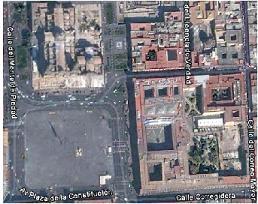El Zócalo en Google Earth