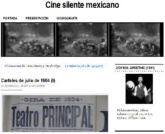 """Portada del blog """"Cine Silente Mexicano"""""""