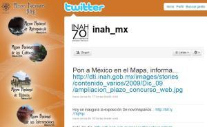 Espacio en Twitter del INAH
