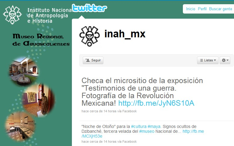 El twitter del INAH
