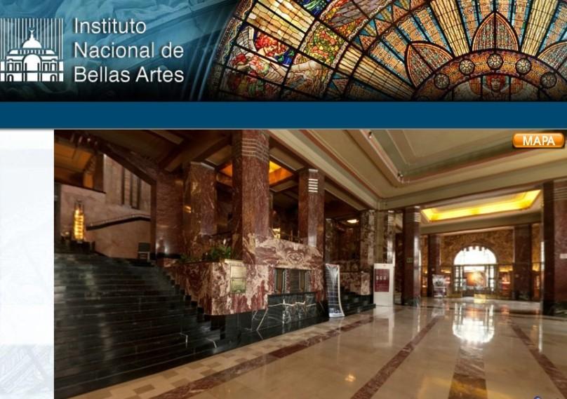 El magnífico vestíbulo del Palacio de Bellas Artes