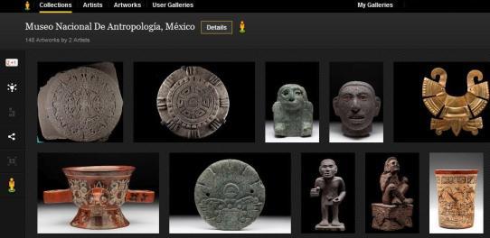 El Museo Nacional de Antropología en Google Art Project