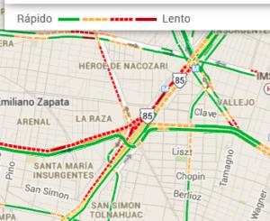 Según GM, no es buena idea transitar por el área de La Raza un viernes a las 8 de la mañana. Mejor tomar el metro...