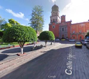 Museo Regional de Querétaro, desde (evidentemente) la calle Francisco I Madero