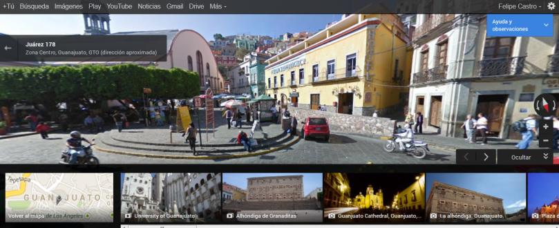 La nueva imagen de Google Maps (centro de Guanajuato)