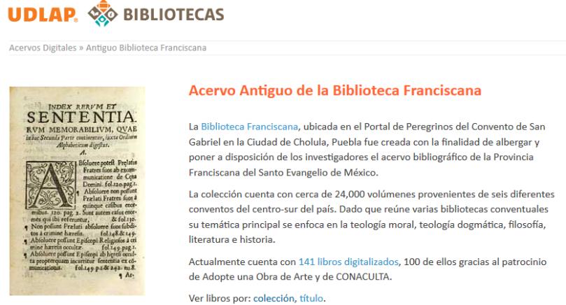 UDLAP-BibliotecaFranciscana